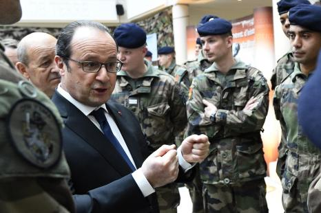 Hollande à Saint-Cyr